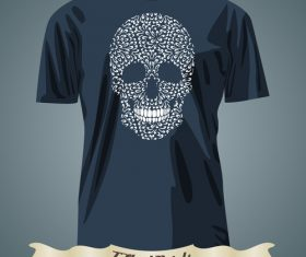 Skull t-shirts prints design vector
