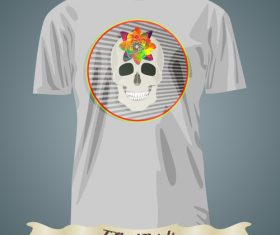 Smiling skull t-shirts prints design vector