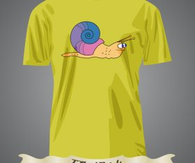 Snail t-shirts prints design vector