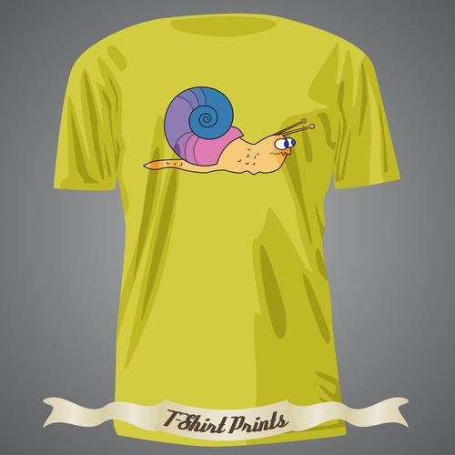 Snail t shirts prints design vector