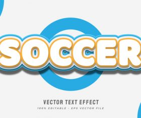 Soccer text style effect vector