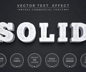 Solid editable font text design vector