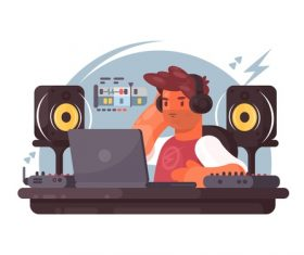 Sound designer vector