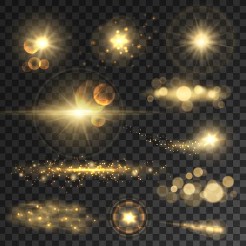 Sparkling glare background vector