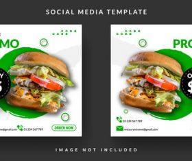Special burger sale template design vector