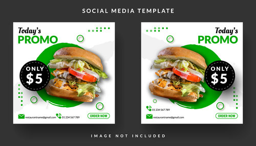 Special burger sale template design vector