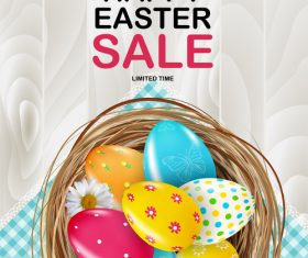 Special offer easter sale vector