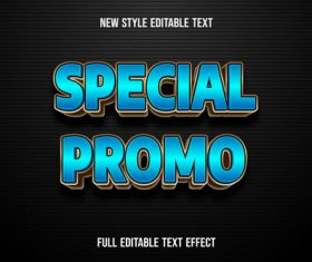 Special promo editable text effect vector