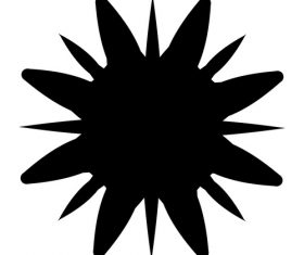 Splash black ink vector