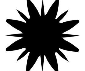 Splash black ink vector