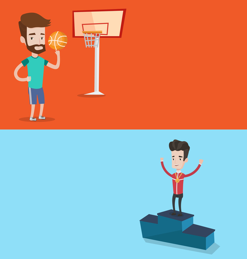 Sports cartoon illustration vector