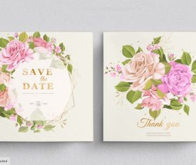 Spring background wedding invitation card vector