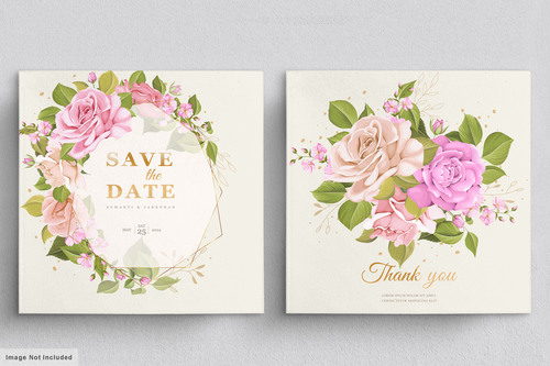 Spring background wedding invitation card vector