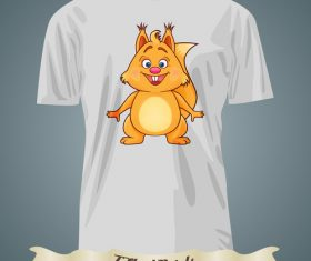 Squirrel T-Shirts prints design vector