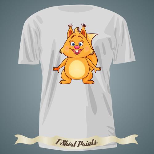 Squirrel T Shirts prints design vector