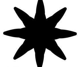 Starfish ink abstract vector
