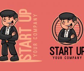 Start logo mascot vector