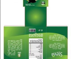 Stevia packaging design vector
