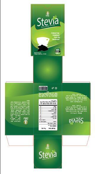 Stevia packaging design vector