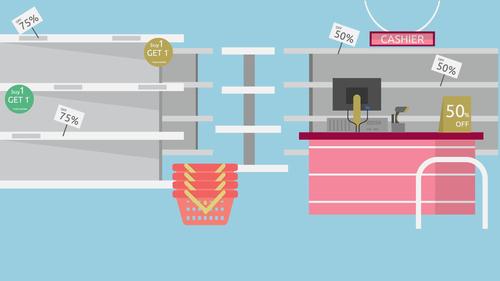 Store illustration background vector