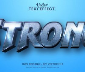 Strong editable text effect vector