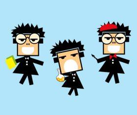 Student cartoon vector
