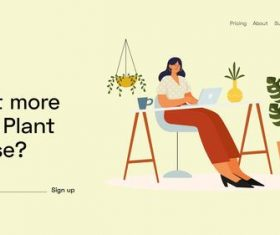 Studio workspace landing page vector