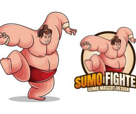 Sumo fighter character design vector