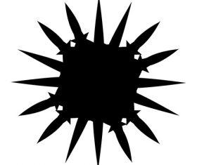 Sword geometric ink pattern vector
