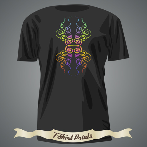 T shirts abstract prints design vector