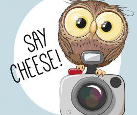 Taking photo cartoon illustration vector