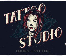 Tattoo illustration vector
