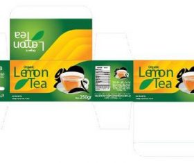Tea packaging design vector