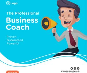 The professional business coach cartoon illustration vector