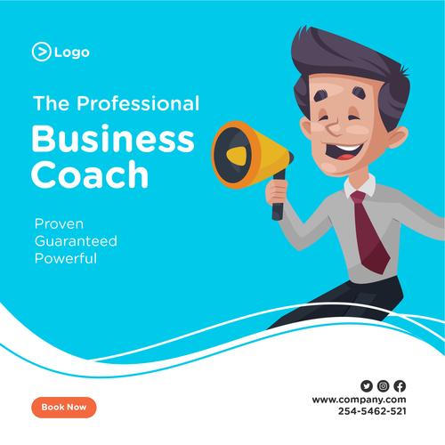 The professional business coach cartoon illustration vector