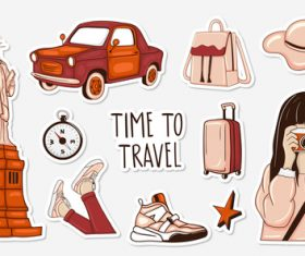 Time to travel sticker vector