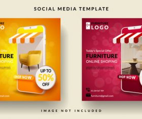 Todays special offer furniture sales template design vector