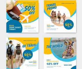 Travel agency promotion poster design vector