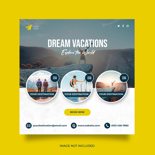 Travel agency promotion vector
