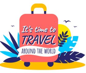 Travel and adventures illustration vector
