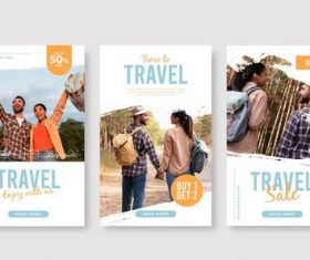 Travel promotion card vector