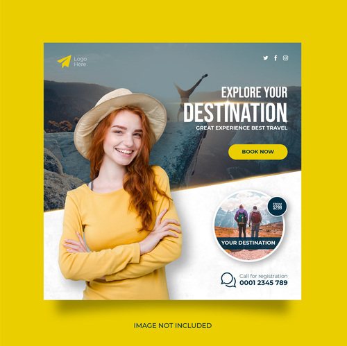 Travel social networks and stories vector