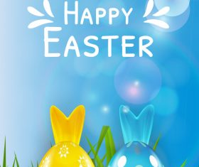 Two-color easter egg vector
