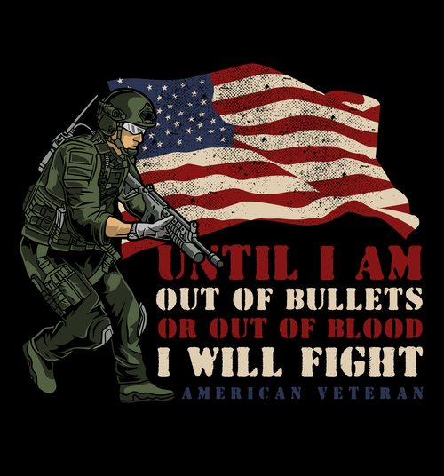 Until i am out of bullets American soldier vector