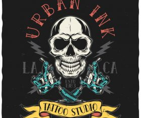 Urban ink tattoo illustration vector