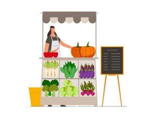 Vegetables cart Illustration vector