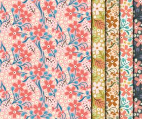 Vintage small flowers seamless pattern vector