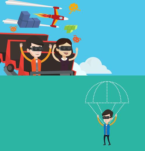 Virtual technology application cartoon illustration vector