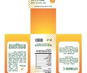 Vitamin C packaging design vector