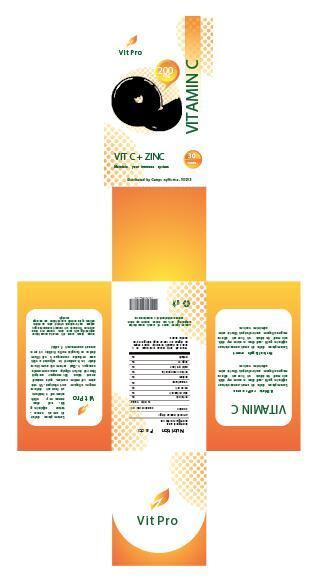 Vitamin C packaging design vector